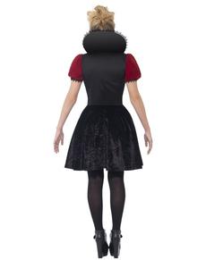 Fato de rainha da escuridão na moda para mulher
