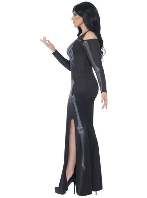 Elegante skelet Kostuum voor vrouw