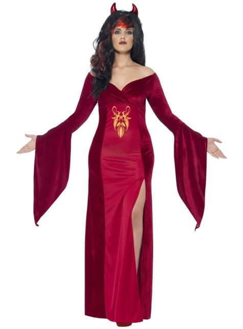 Disfraz de sacerdotisa demoniaca para mujer talla grande