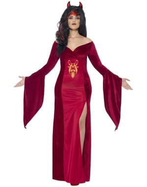Womens Plus Size Demon Priestess Costume