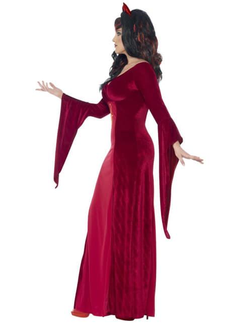 Disfraz de sacerdotisa demoniaca para mujer talla grande - original