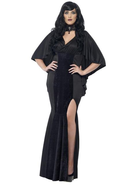 Gestroomlijnde vampier Kostuum voor vrouw grote maat