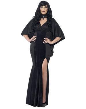 Fato de vampiresa curvilínea para mulher tamanho grande