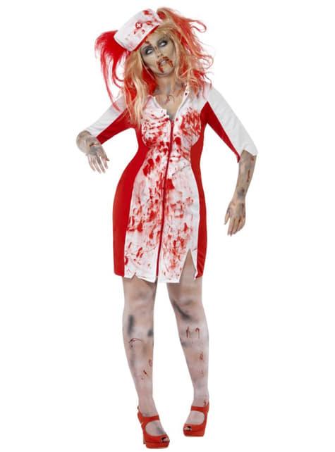 Déguisement infirmière en sang zombie femme grande taille