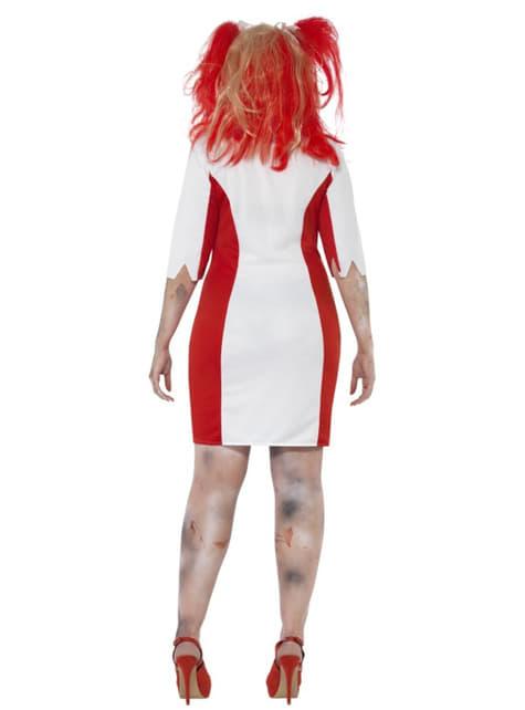 Disfraz de enfermera sangrienta zombie para mujer