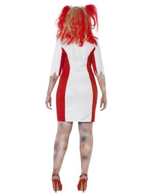 Costume da infermiera sanguinante zombie per donna taglie forti