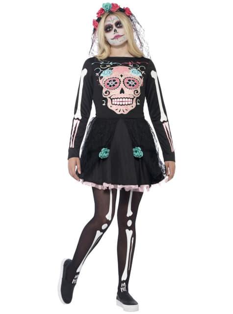 Disfraz de muerte mexicana elegante para mujer