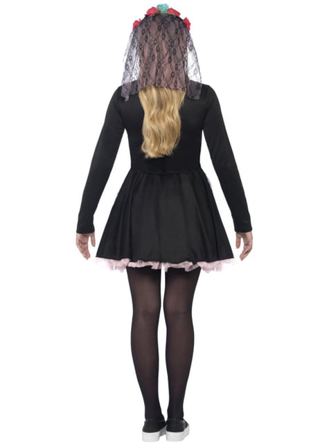 Womens Elegant Mexican Death Costume