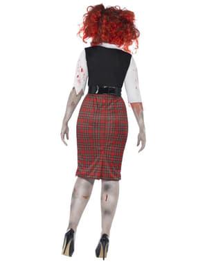 Costum de școlăriță zombie pentru femeie mărime mare