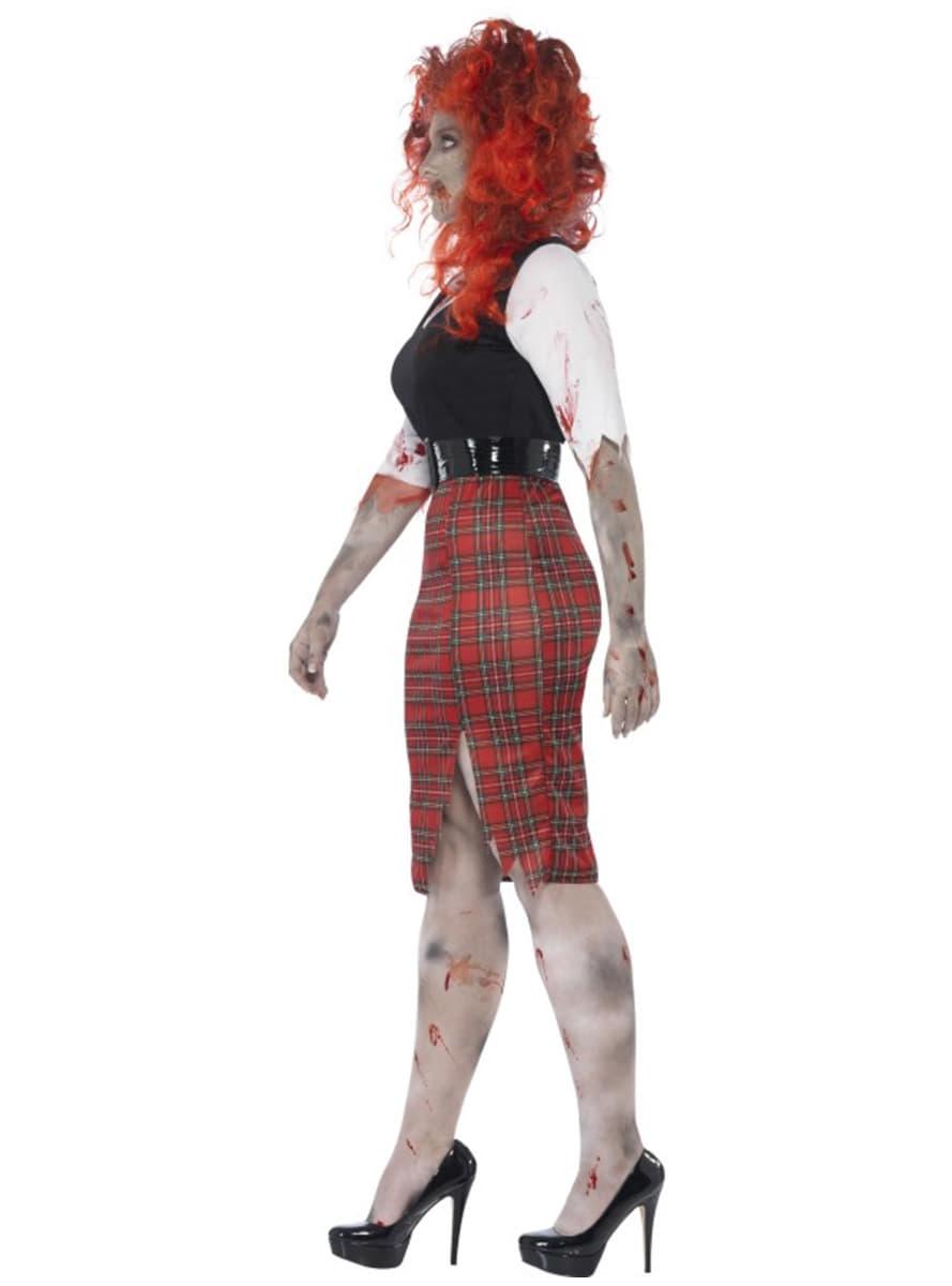 D guisement tudiante zombie femme grande taille - Deguisement zombie femme ...