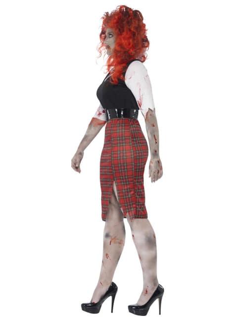 Disfraz de colegiala zombie para mujer talla grande