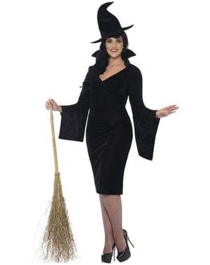 Női plusz méretű bájos boszorkány jelmez