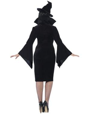 Costum de vrăjitoare seducătoare pentru femeie mărime mare