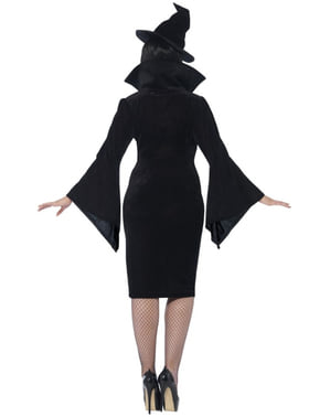 Fato de bruxa para mulher tamanho grande
