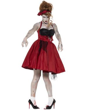 Zombieklänning Rockabilly Maskeraddräkt Dam