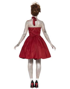 Zombie Rockabilly Kostyme Dame