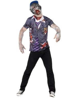 Camiseta de estudiante zombie para hombre
