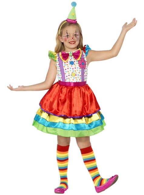 Διασκεδαστική Στολή Μικρός Κλόουν για Κορίτσια