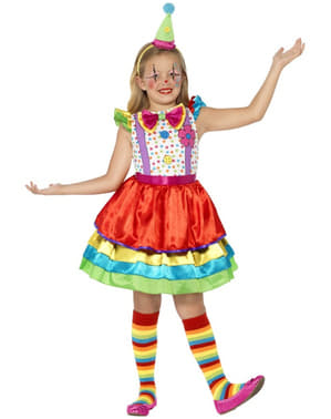 Girls Fun Little Clown Costume