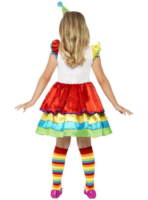 Girls Fun Little Clown Costume