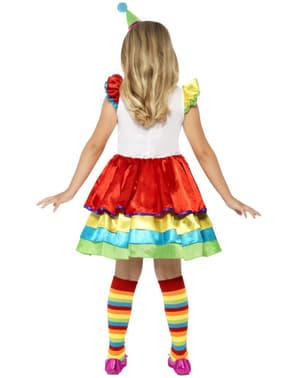 Весел костюм на клоун за момиче