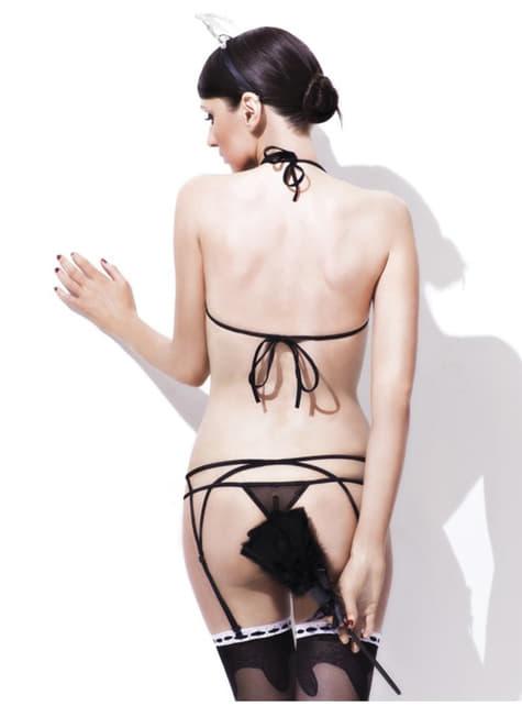Conjunto lencería sexy room service - para tu disfraz