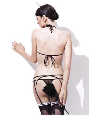 Ensemble lingerie sexy room service