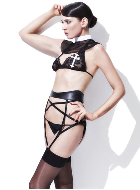 Naughty Nun Fever Lingerie Outfit