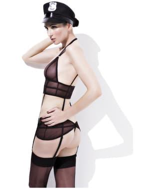 Ensemble lingerie policière pour déguisement