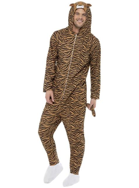 Disfraz de tigre onesie para adulto - adulto