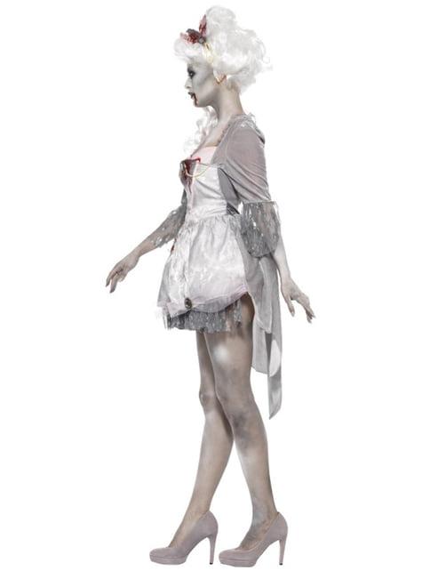 Disfraz de época zombie para mujer