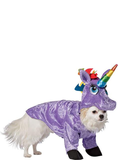 Fato de unicórnio para cão