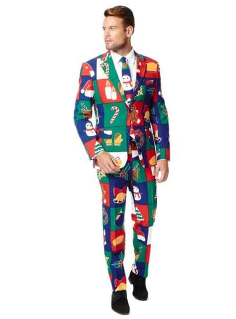 Fato natalício multicolor