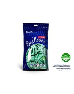Metalik nane yeşili 10 ekstra güçlü balon (30 cm)