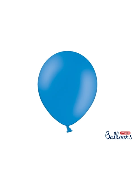 10 Strong Balloons in Medium Pastel Blue, 30 cm
