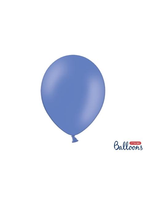 10 extra sterke ballonnen in blauwgrijs (30 cm)