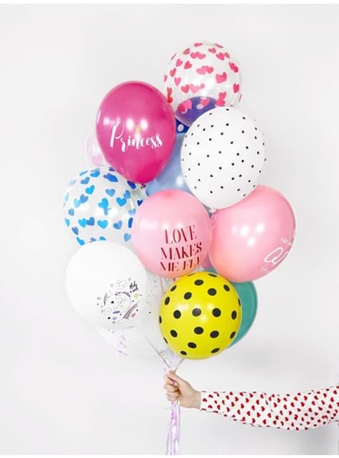 6 balões com estrelinhas (30cm)