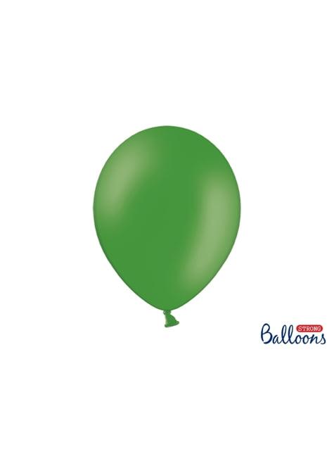 100 extra sterke ballonnen in smaragdgroen (30 cm)