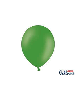 10 ekstravahvaa ilmapalloasmaragdinvihreänä (30cm)