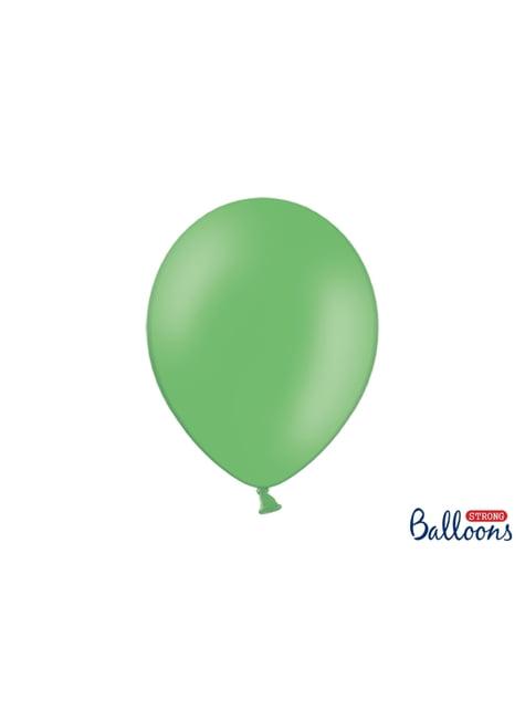 100 extra silných balonků pastelově zelených (30 cm)