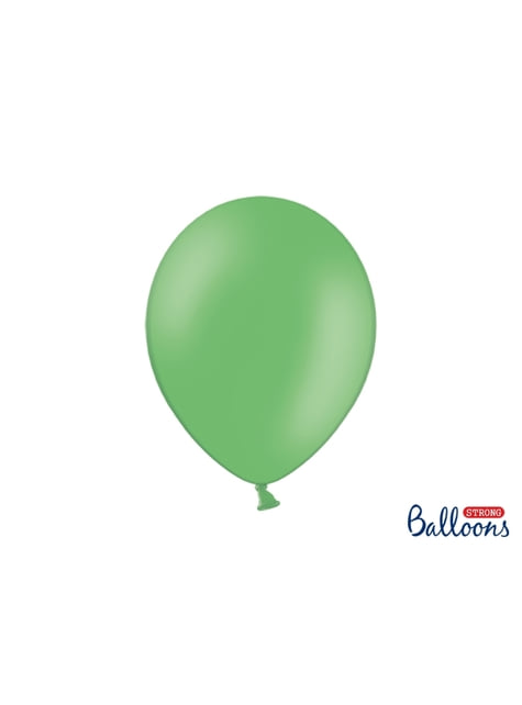 100 globos extra resistentes verde pastel (30 cm)