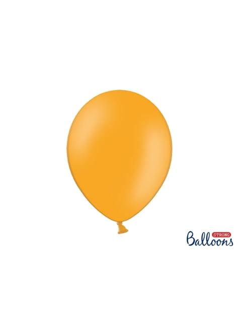 10 extra silných balonků (30 cm) mandarinkově oranžových