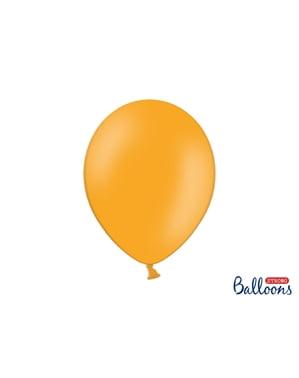 10 ballons extra résistants orange mandarine (30 cm)