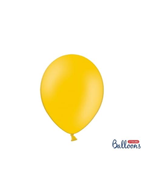 100 extra silných balonků leskle oranžových (30 cm)