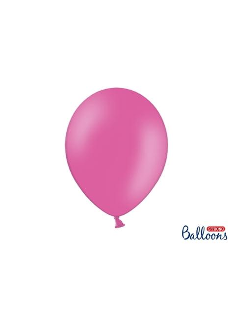 10 extra sterke ballonnen in roze  (30 cm)