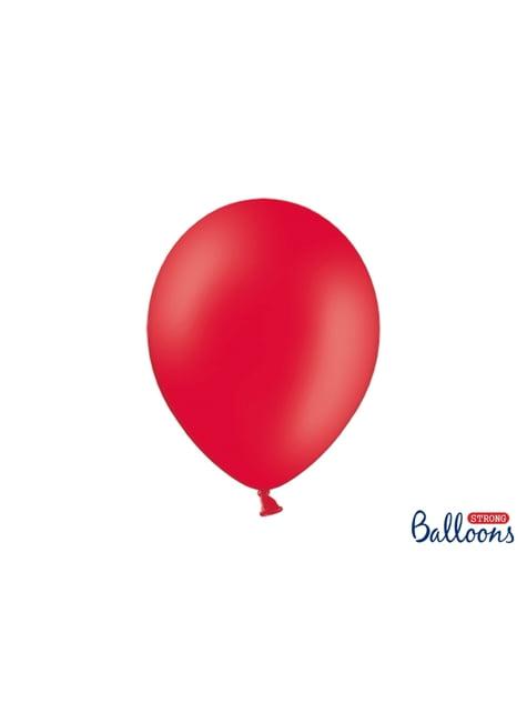 100 sterke ballonnen in koraal, 30 cm