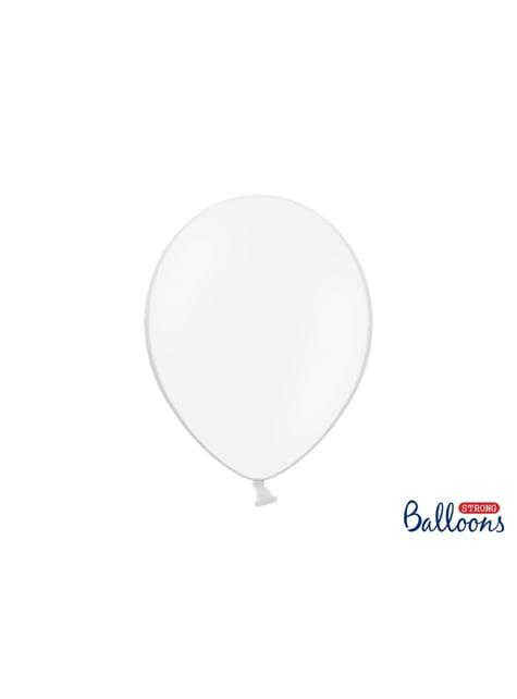 10 balões extra resistentes brancos (30cm)