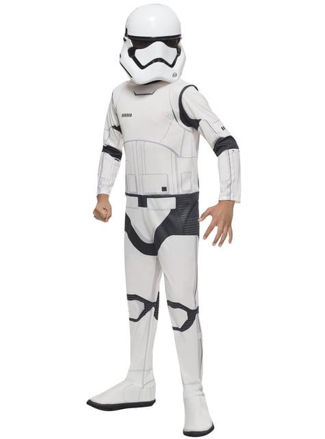 Fato de Stormtrooper Star Wars Episódio VII classic para menino