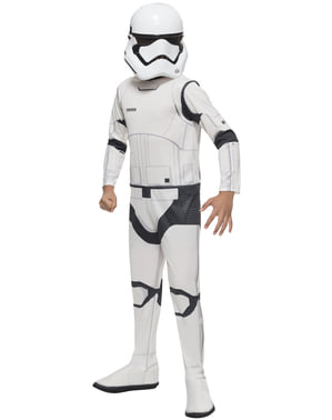 Star Wars: The Force Awakens Stormtrooper Classic Maskeraddräkt Barn