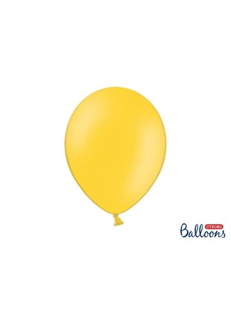Set de 100 globos extra resistentes amarillo